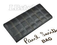 ★paulsmithポールスミス財布メンズチェック牛革長財布ポールスミス100-0118