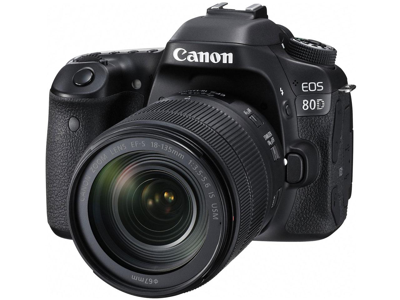 【新品・未使用】 CANON(キヤノン) EOS 80D EF-S18-135 IS USM レンズキット デジタル一眼カメラ 家電
