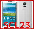 【新品・未使用】GALAXY S5 SCL23 [シマリーホワイト]白ロム 格安スマホ au 携帯電話 スマートフォン