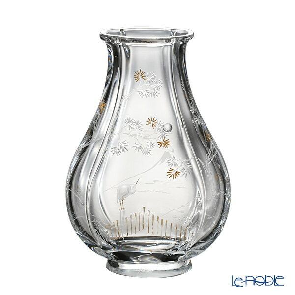 バカラ (Baccarat) ジャポニズム 2-810-565 富士と鶴 29cm LE100【楽ギフ_包装選択】【楽ギフ_のし宛書】 グラス お祝い ギフト 花瓶 フラワーベース おしゃれ