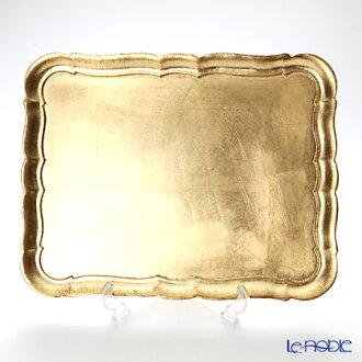 弗洛倫斯托盤矩形 3046 / 4 黃金 41.5 x 32 釐米禮物內祝i 婚禮