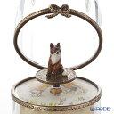 リモージュボックス/エッグボックス クリスタル キツネ (オルゴール付:花のワルツ/チャイコフスキー