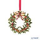 ビレロイ&ボッホ(Villeroy&Boch) クリスマストイズ オーナメント クリスマスリース 12cm 0028 メタル製 飾り 装飾