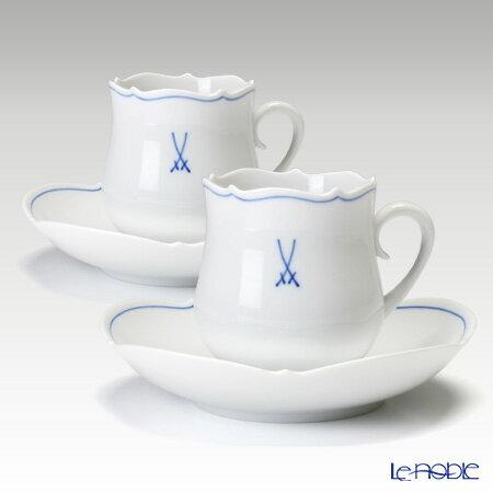 マイセン(Meissen)ホワイトマイセン(VIP)825009/23582コーヒーカップ&ソーサー