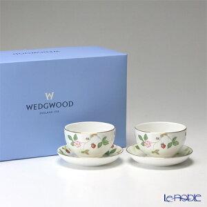 ウェッジウッド ワイルドストロベリー ジャパニーズティーカップ ソーサー ブランド ボックス