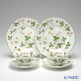 Wedgwood (Wedgwood) wild strawberry trio set (peony) pair