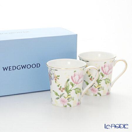 ウェッジウッド (Wedgwood) スウィートプラム ダマスク マグ(デルフィ) 300cc ペア 【ブランドボックス付】 ウエッジウッド 結婚祝い 内祝い お祝い マグカップ おしゃれ かわいい 食器