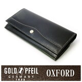 【】オックスフォード 長財布 「ゴールドファイル」 GP10220【ブラック】 プレリー銀座 ブランド メンズ財布 プレゼントに最適 人気 レザーアイテム 革小物【楽ギフ包装選択】