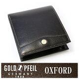 【】オックスフォード 二つ折り財布(小銭入れあり) 「ゴールドファイル」 GP10320【ブラック】 プレリー銀座 ブランド メンズ財布 プレゼントに最適 人気 レザーアイテム 革