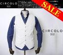 【10%OFF】circolo/チルコロ/ジャガードジレ/コットン/紳士服/イタリア製/春夏モデル