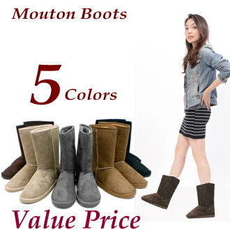 Women's Shearling boots half-NH-003 black gray beige Brown camel Shearling boots-