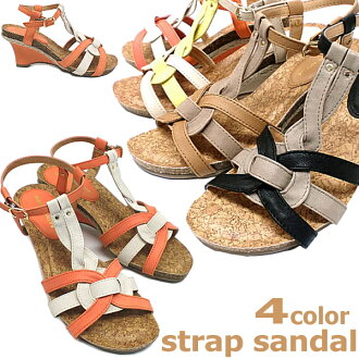 Wedge sole sandal Womens slouchy soft strap sandal Gladiator shoes ladies sandal [9604]-
