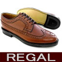 Regal business Regal shoes REGAL Regal wing tip □【 is free shipping: A 10% OFF 】 REGAL [Regal] 2235NA[BR] wing tip men business shoes leather bottom [101KBKB-13vjjc] [P10f]