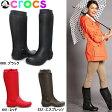 【送料無料】クロックス レディース 長靴 ロング レインブーツ レインフロー ブーツ crocs wellie rain floe boot w 12424 女性用【OJOJ-33rfhh】●