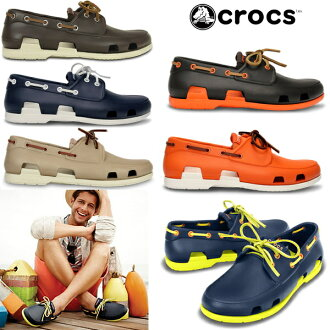 Crocs men's Sandals Beach line boat shoe men crocs beach line boat shoe men 14327 men's lightweight deck shoes shoes men's sandal-[fs3gm]
