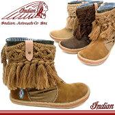 インディアンブーツ レディース ニットのフリンジ ショート ブーツ Indian [ID-1268] インディアンモトサイクル レデイース ぶーつ スニーカー ladies boots ●【MIMI-08jvpd】【送料無料】