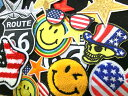 【送料無料】アソート15個セット ワッペン 刺繍 アップリケ ミシン手芸  国旗