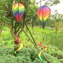 レインボウ ウインドスピナー 気球 風車 ガーデニング