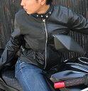 ショッピングカーズ 【送料無料】メッシュレザー 革ジャン シングルライダース レザージャケット ライダースジャケット バイカーズ アメカジ バイク ウェア カジュアル 水牛革 本革 本皮 皮ジャン 春夏 ブラック 黒 Leather House
