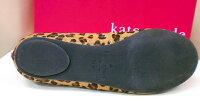 SALE!KATESPADEケイト・スペードヒョウ柄リボンつきフラットシューズ(6・5サイズ)アメリカの直営店より直輸入【アウトレット】【インポート】