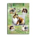 ギフトバッグ 小 シェルティー 世界的に有名な動物画家「ルス・メイステッド」さんデザイン(紙袋 犬グ