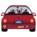 レッドカー・ペット・マグネット From USA グレートピレニーズ 犬のカーマグネットステッカー☆赤い車に乗った犬たちが可愛いカーステッカー 犬グッズ 犬雑貨 ドッグ かわいい) 卒業式 プレゼント ギフト お返し ルシアン
