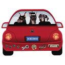 【メール便送料無料】レッドカー・ペット・マグネット From USA ドーベルマン/犬のカーマグネットステッカー☆赤い車…