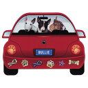 【メール便送料無料】レッドカー・ペット・マグネット From USA ブルテリア 犬のカーマグネットステッカー☆赤い車に…