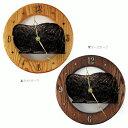 【送料無料】ウォールクロック 【ペキニーズ(黒)】from USA (壁掛け時計 犬 グッズ 時計