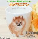 わんコレ 湯飲み ポメラニアン(犬食器 犬モチーフ 犬