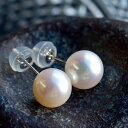 7mm淡水真珠真珠K14WGピアス 美しいてりで強く輝く超特級品質7.5-8mm! 現品限りのセール特価!イヤリング変更可