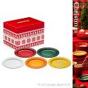 【限定ボックス入り】ミニ・オーバル・プレート(5枚入り) クリスマス[ル・クルーゼ]【楽ギフ_包装】洋食器 小皿 陶器