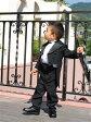 【レンタル/サイズ展開95 100サイズ/b-07】フォーマル テールコート 燕尾服 結婚式 発表会 七五三 キッズ 子供 ベビー かっこよくて着易い!正統派テールコート(タキシード)