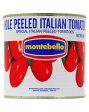 アウトレット商品:外装凹み、ラベル傷ありモンテベッロ(スピガドーロ) ホールトマト(丸ごと) 2550g 1梱包6缶まで あす楽