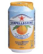【包装不可】 サンペレグリノ スパークリング フルーツ ベバレッジ アランチャータ(オレンジ) 缶 330ml