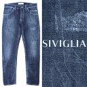 シビリア / SIVIGLIA / ユーズド加工 / デニムパンツ / ネイビー 26m2s4396002-indigo 100