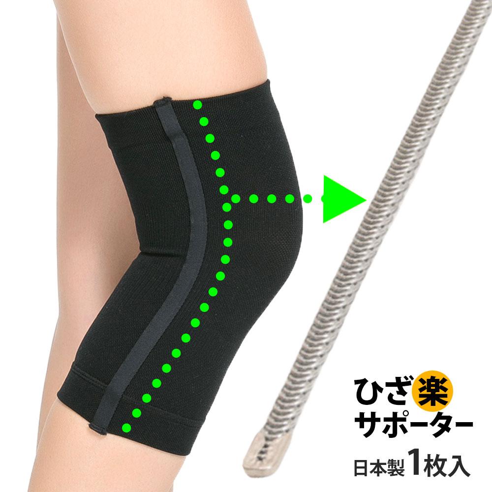 送料無料日本製ボーン内蔵着圧スポーツひざサポーター(片足用1枚入り)ひざの負担を軽減スポーツサポータ