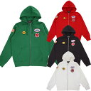 SUPREME x Hysteric Glamour シュプリーム x ヒステリックグラマーPatches Zip Up Sweat Shirtアメリカ ニューヨーク直営店買付分【あ..