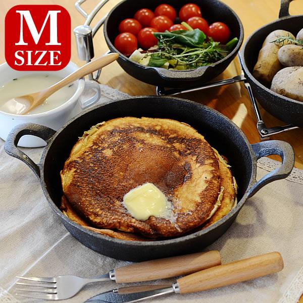 スキレット DULTON ダルトン GLUTTON グラットン Round pan ラウンドパン Mサイズ Skillet フライパン グリルパン アウトドア キャストアイアン 鋳鉄製フライパン ダッチオーブン 楽天 240147