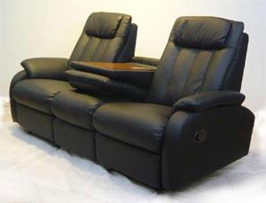 イタリア製本革使用リクライニングソファ