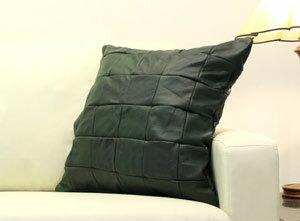 イタリア製本革使用オリジナルデザインクッション