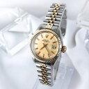 【保証書付/仕上済】ロレックス オイスターデイト コンビ レディース 腕時計 【中古】【送料無料】