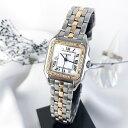 【OH済】カルティエ パンテール MM コンビ ダイヤ ダイヤモンド レディース 腕時計 時計 【中古】【送料無料】