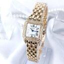 【保証書付/仕上済】カルティエ パンテール SM K18 金無垢 ダイヤ ダイヤモンド 腕時計 時計 【中古】【送料無料】