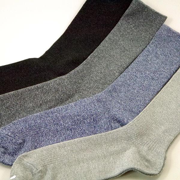 24/26cmMサイズ リブ柄麻混靴下(男性 紳士 メンズ) 安全性に優れた銀イオンで除菌の東洋紡の銀世界(光触媒除菌繊維糸)とさわやか麻混にさらにグラフト重合法による最強の消臭機能付き