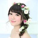 ヘッドドレス 髪飾り 【シルクフラワー 造花】 フルールガーデン