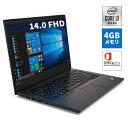 直販 ノートパソコン Officeあり:Lenovo ThinkPad E14 Core i3-10110U搭載モデル(14.0型 FHD 4GBメモリー 128GB SSD Windows10 Microsoft Office Home & Business 2019)
