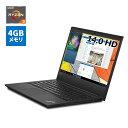 直販 ノートパソコン:Lenovo ThinkPad E495 AMD Ryzen 3搭載モデル(14.0型 HD/4GBメモリー/128GB SSD/Windows10/Officeなし)【送料無料】