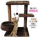 キャットタワー 子猫 シニア 据え置き おしゃれ 省スペース ミニタワー CTBM-1【猫びより】【ねこ】掲載商品