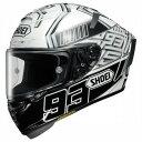 お買物マラソン 1月16日AM1時59分まで 買い回りでポイント最大10倍 (ヘルメット バイク) Shoei (ショウエイ) X-Fourteen (X-14 X14 Xフォーティーン) Marquez4 (マルケス4) ヘルメット TC-6 ホワイト/ブラック (ピンロックシート付属)